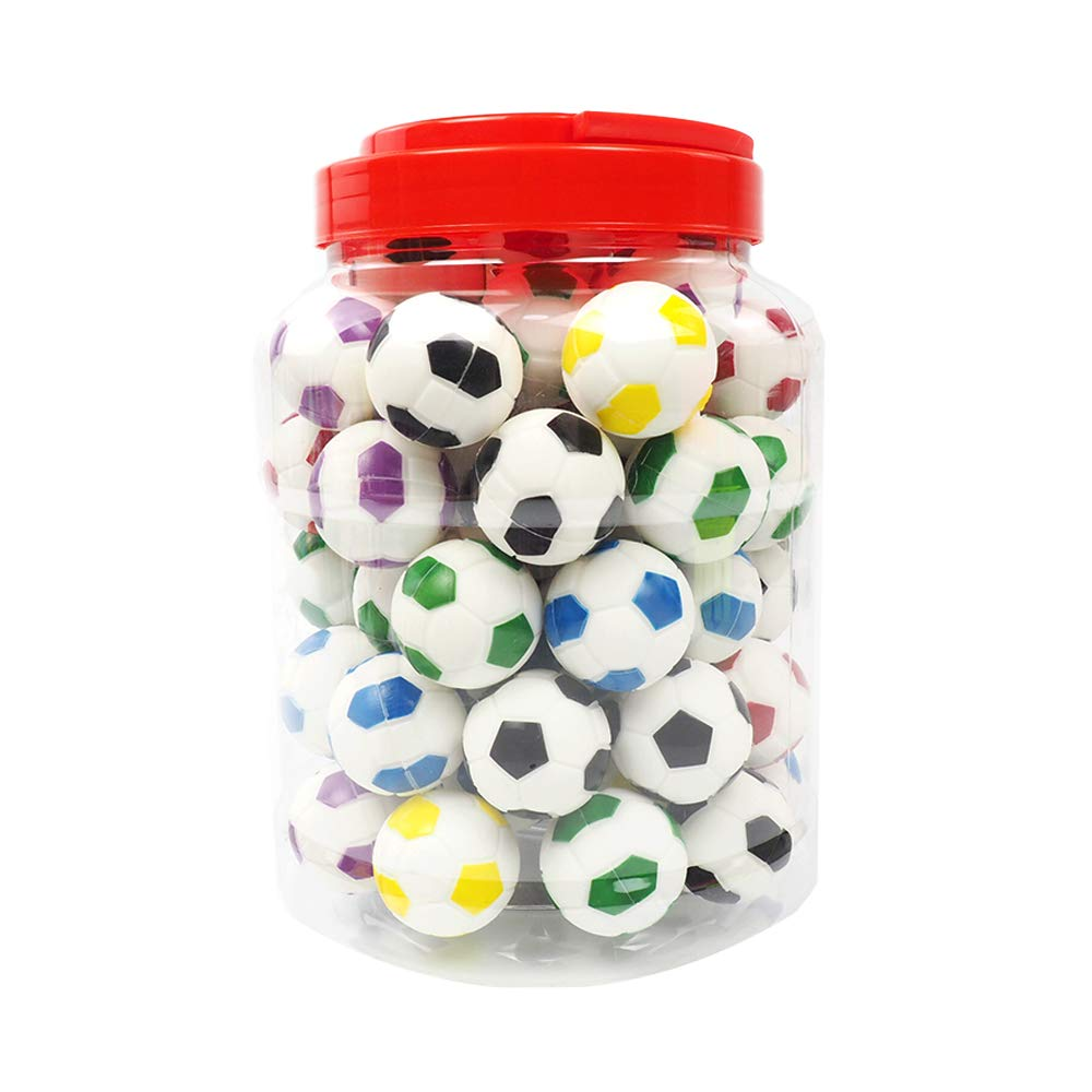 YHSWE Football Silicone Concentrate Container for Wax Non-stick Multi Use Storage Oil Jar Assorted Color 60Pcs/Box