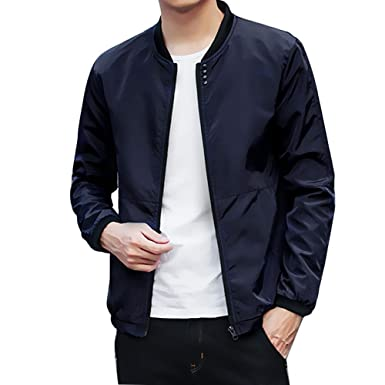 Mens Jacket Godathe Autumn Winter Jacket Men Peacoat Mens ...