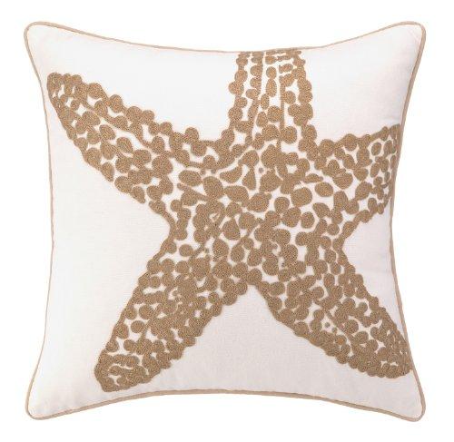 Peking Handicraft Star Fish Crewel Stitch Pillow (Crewel Pillows)