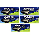 Expo Block Eraser 81505 Dry Erase Whiteboard Board Eraser, Soft Pile, 5 1/8 W x 1 1/4 H - Pack of 5