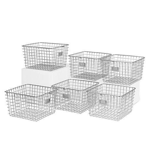 Spectrum Diversified 47970-6 Wire Storage Basket, Medium Chrome