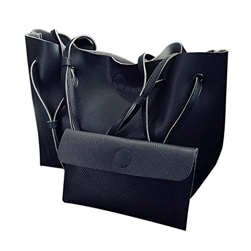 Black Cheap of Leather Girl Set TOPUNDER by Bags Shoulder Bag Cross Large Women for body 2PCS Handbag agxRTqP