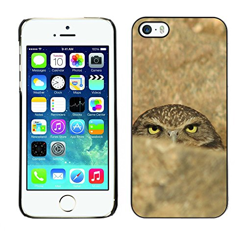 Omega Case PC Polycarbonate Cas Coque Drapeau - Apple iPhone 5 / 5S ( Funny Evil Sinister Owl )