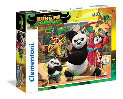 Clementoni puzzle da 60 pezzi maxi multicolore con tema kung fu