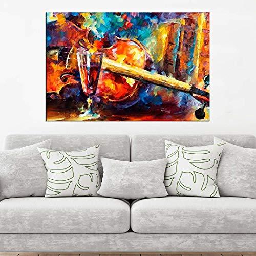 Tela Decorativa Pintura Violino