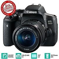 Canon EOS 750D 18-55mm III Fotoğraf Makinesi, Full HD (1080p), Siyah, 2 Yıl Canon Eurasia Garantili