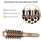 SUPRENT Nano Thermal Ceramic Ionic Round Barrel Hair Brush With Boar Bristle