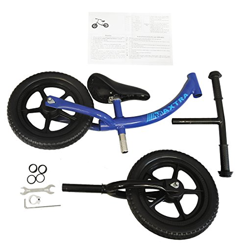 Maxtra Lightweight Balance Bike No Pedal Bicycle Adjustable Handlebar and Seat for Ages 2 to 5 Year Old Dark Blue by Maxtra (Image #8)