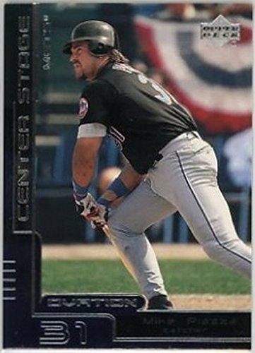 (2000 Upper Deck Ovation Center Stage Silver #CS4 Mike Piazza NM-MT Mets)