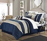 Discount Comforter Sets Queen Carly 6-piece Comforter Set Queen Size Navy