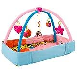 sweetyhomes Baby Play Mat Fitness Rack Bodybuilding Frame Music Game Carpet Blanket Kick Play Lay Sit Toy Velvet