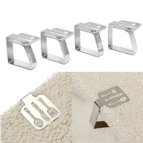 C&C Products 4pcs Tableware Shape Stainless Steel Tablecl...