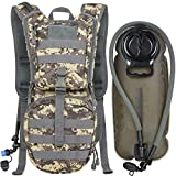 MARCHWAY Tactical Molle Hydration Pack Backpack with 3L TPU Water Bladder, Military Daypack for Cycling, Hiking, Running, Climbing, Hunting, Biking (ACU)