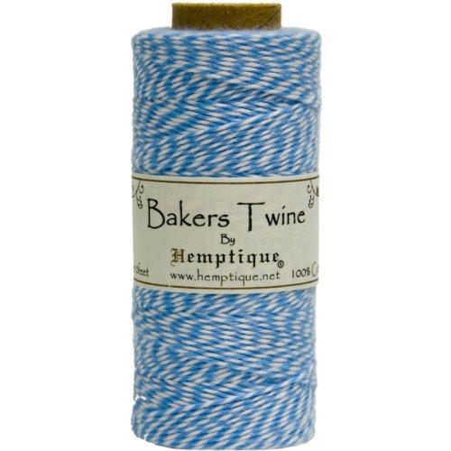Hemptique Baker's Twine Spool, Blue and White]()