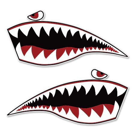 Warhawk Shark Tiger Vinyl Sticker - SELECT SIZE