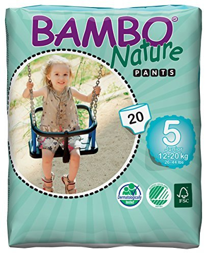 Bambo Nature Junior Size 5 (12-20kg) - Toilet Training Pull Up Pants - 20 pieces per pack by Bambo Nature