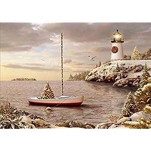 51Bhmuw79KL._SS300_ Beach Christmas Cards and Nautical Christmas Cards
