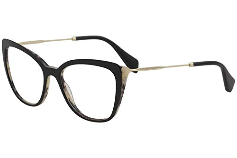 34420de9cb89 Miu Miu Eyeglasses MU02QV MU/02/QV ROK101 White Havana/Black Optical Frame