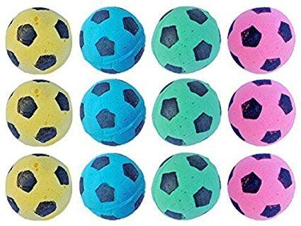 SHUYUE Foam Soccer Balls Cat Toys (12pcs)