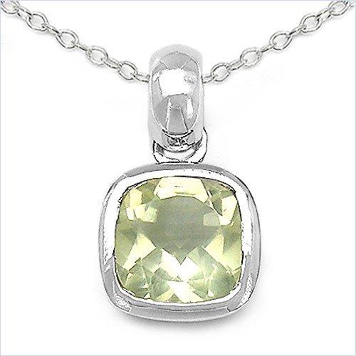 Bijoux Schmidt-Collier / pendentif quartz citron / citron Quartz argent rhodié-1, 30 carats