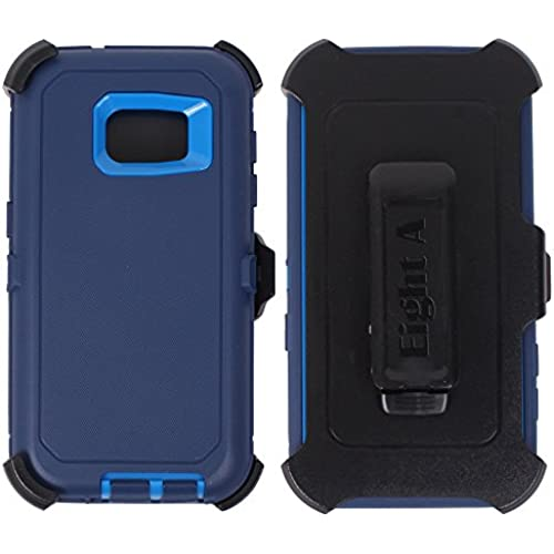 Samsung Galaxy S7 Case,Heavy Duty Defender Impact Rugged with Built-in Screen Protector Case Cover for Galaxy S7 (Navy Blue) Sales
