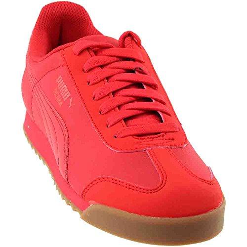 (Puma Roma Basic Summer Jr Big Kid's Shoes High Risk Red 359841-10 (6.5 M US))