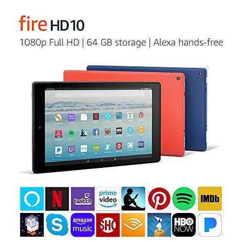 "Fire Hd 10 Tablet With Alexa Hands-free, 10.1"" 1080p Full Hd Display, 64 Gb, Black"