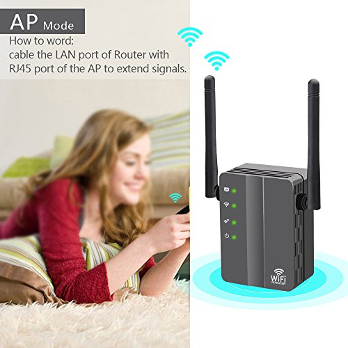 WiFi Range Extender, FiveHome 300Mbps High Speed WiFi Booster with Repeater/Access Point/Router Mode -360 Degree WiFi Signal - Easily Set Up by FiveHome (Image #6)