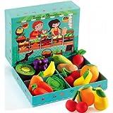 Djeco - Fruits et légumes pour jeu marchande - Louis et Clémentine
