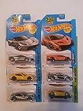 [Bundle 6 Items] HotWheels Exotics Dream Team Set 2 - McLaren P1 in Silver, Lamborghini LP 610-4 in Yellow, Lamborghini Veneno in Orange, Silver LaFerrari, Silver and Yellow Ferrari F12 Berlinetta