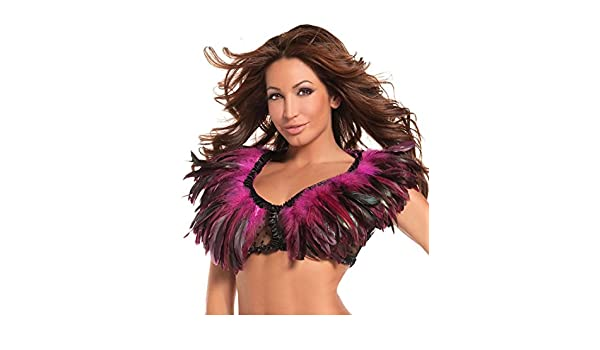 Hot Pink Lace Backing Feather Top Be Wicked BW1001HP