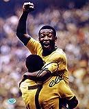 """Pele Brazil Soccer Signed Autographed 8"""" x 10"""" Celebration Photo"""