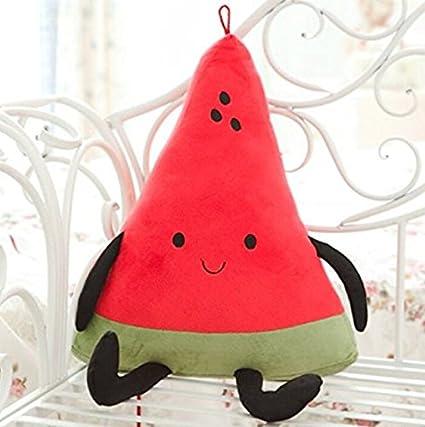 kimberleystore Lovely Creative de peluche dibujos animados sandía frutas almohada