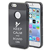 Apple iPhone 5 5s Shockproof Impact Hard Case Cover Keep Calm And Board On Snowboard (Black)