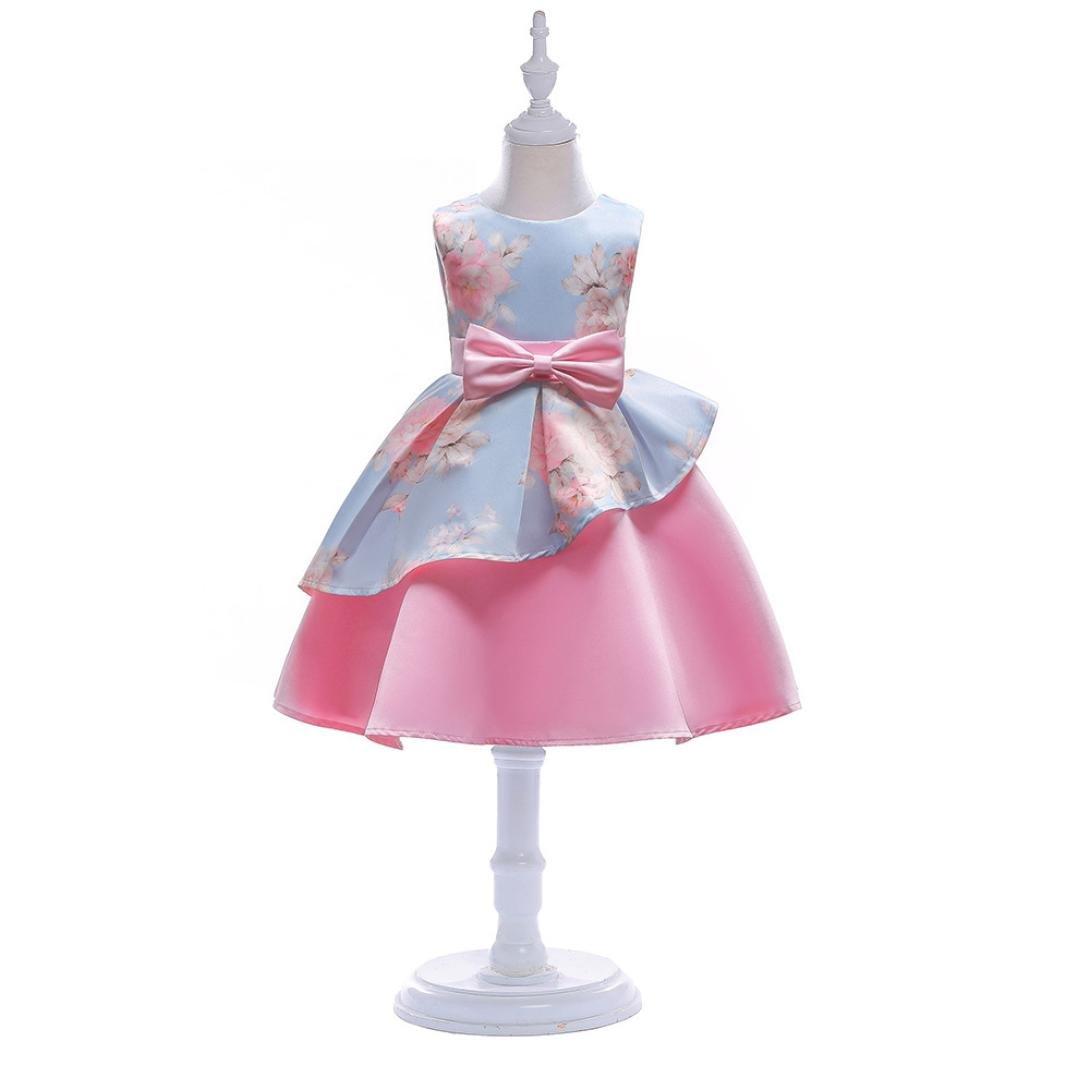 0cd79dde1 Btruely Herren 🍁 Ropa bebé 2018 Verano Vestidos para Niña sin Mangas  Vestidos Floral Princesa Fiesta