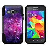 Samsung Core Prime Case, Durable Hybrid STRIKE Impact Kickstand Case with Art Pattern Designs for Samsung Galaxy Core Prime G360, Samsung Galaxy Prevail LTE (Verizon, Sprint, Boost Mobile) from MINITURTLE | Includes Clear Screen Protector and Stylus Pen - Heavenly Stars