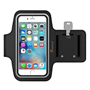 Trianium Cell Phone Armband For iPhone 7/6/6S Plus, LG G6 G5, Galaxy s8 s7 s6 Edge, Note 5 (fits Otterbox Defender/Lifeproof case) Exercise Sport Running Pouch Key Holder for Hiking,Biking,Walking