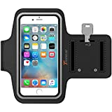Trianium Armband For iPhone 6/6S PLUS, LG G5, Note 3/4/5 with case (fits with Otterbox Defender & Lifeproof case) ArmTrek Pro Exercise Running Pouch Key Holder Good For Hiking, Biking, Walking- Black