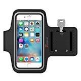 Trianium Armband For iPhone 7/6/6S Plus, LG G6 G5, Galaxy s8 s7 s6 Edge, Note 5 (fits Otterbox Defender / Lifeproof case) ArmTrek Pro Sport Exercise Running Pouch Key Holder - Hiking,Biking,Walking