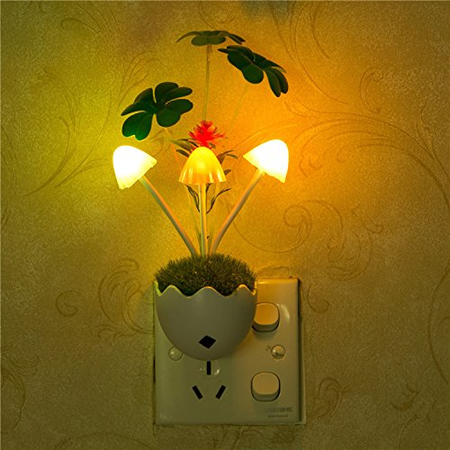 Light, 2PCS New Colours Romantic LED Mushroom Night Lamp for Kids Bedside Lamp Genial Comfortable (Childrens Ceramic Lamp)