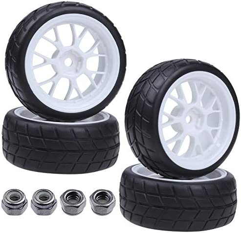 4x RC Tyres & Wheels Rims Sets Y Shaped Width:26mm 12mm Hex Driv