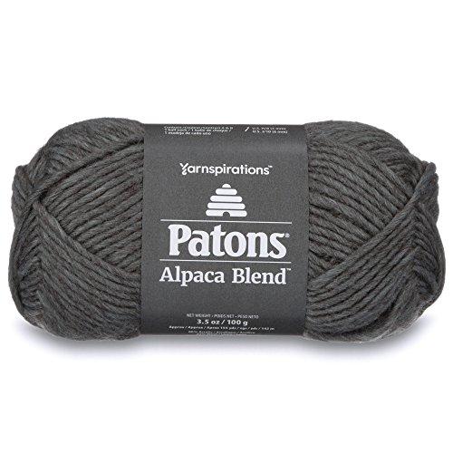 Hook Wool Blend - Patons  Alpaca Blend Yarn - (5) Bulky Gauge  - 3.5oz -  Slate -  Machine Washable  For Crochet, Knitting & Crafting