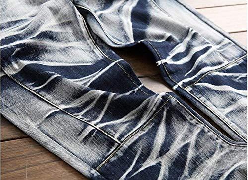 Tide Nostalgia Dritti Ssig Cotone Sottili In Vintage Moda Originale Jeans Denim Cowboy Marchio Giovane Classic Blau Uomo Da Stile Alla wq6EXUx1vn