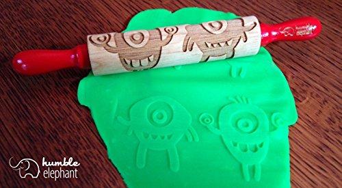 Monster/Alien Kids Wooden Laser Cut Mini Rolling Pin