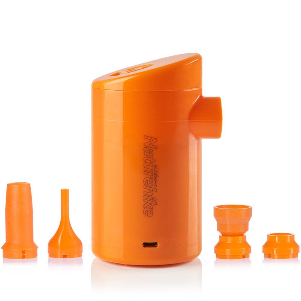 Tentock Mini Batería Portátil USB de Plástico de Bomba de Inflar Desinflar Al aire Libre Bomba de aire Inflador para Mat Almohada Globo con 4 Boquillas(tipo ...