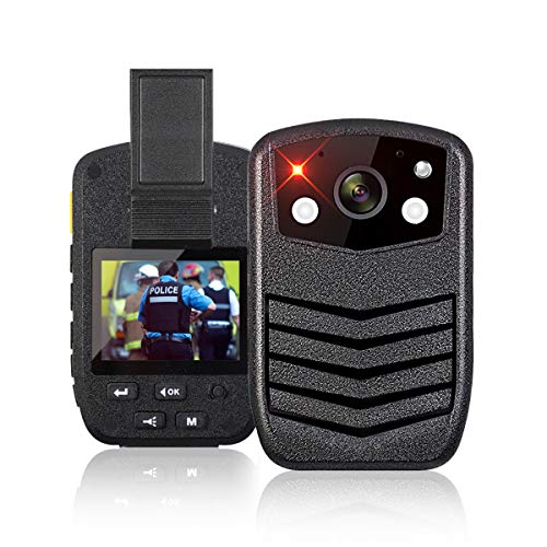 Kacsoo 1440P HD Waterproof Police Portable Body Camera with 2 Inch Display, Night Vision, Built in 64G Memory and GPS,170° Wide Angle,Law Enforcement Records, Recording,Motion Detection