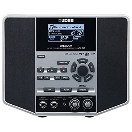 3451bc78ac Amazon.com: Boss eBand JS-10 Audio Player with Guitar Effects -  Black/Silver: Musical Instruments