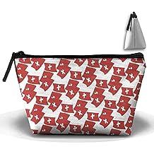 Switzerland Flag Mode Cosmetic Bag Makeup Bags Pouch Stationery Bag Pencil Base Learning Bools Handbag Organizer Bag