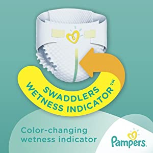 Pampers Swaddlers Sensitive Diapers, Economy Pack Plus, Size 1, 174 Count