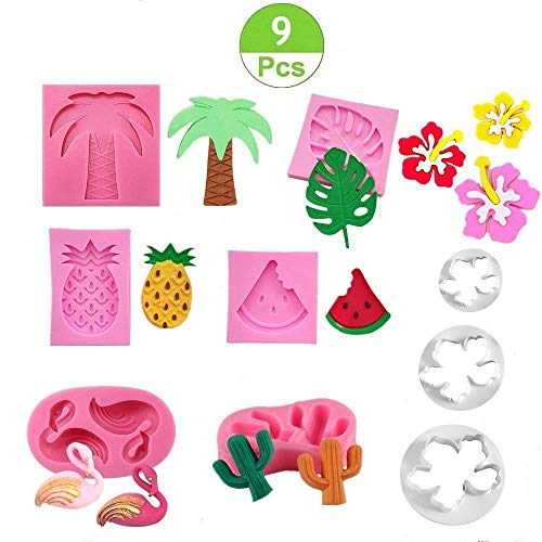 Jasonsy Hawaiian Tropical Rain Forest Theme Cake Fondant